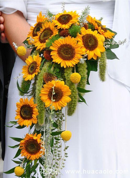 向日葵新娘手捧花